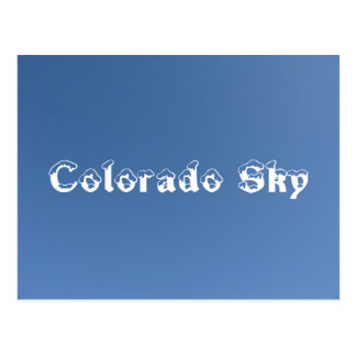 Carte Postale Ciel du Colorado