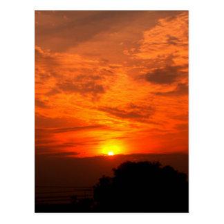 Carte Postale ciel et nuage/coucher du soleil