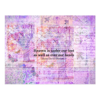 Carte Postale CIEL inspiré de citation de Henry David Thoreau