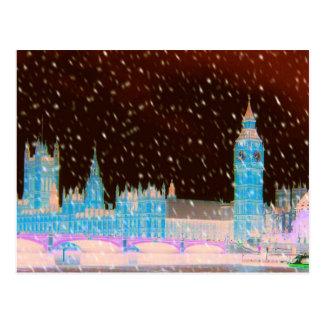 Carte Postale Cieux de rouge de Londres d'Abbaye de Westminster