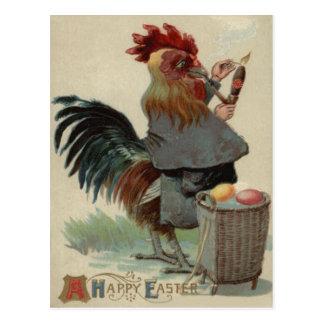 Carte Postale Cigare de tuyau coloré par Pâques d'oeufs de coq