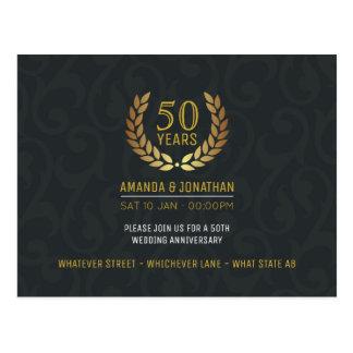 Carte Postale cinquantième L'anniversaire de mariage d'or