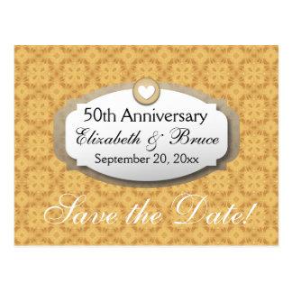 Carte Postale cinquantième Or Z05 d'anniversaire de mariage