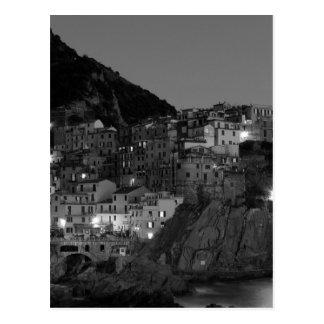 Carte Postale Cinque noir et blanc Terre