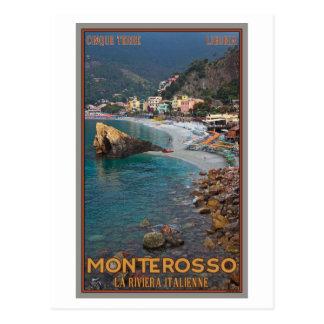 Carte Postale Cinque Terre - plage de Monterosso de matin