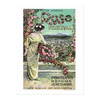 Carte Postale Cinquième publicité rose de festival d'annuaire