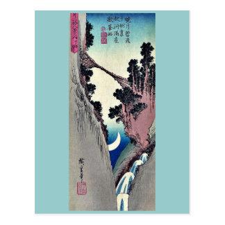 Carte Postale Cintrez la lune formée par Ando, Hiroshige Ukiyoe