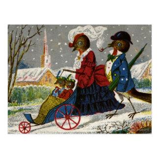 Carte Postale Circa 1870 : La famille de Robin prennent une