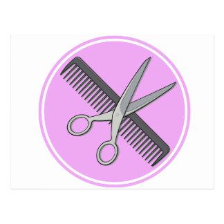 Carte Postale Ciseaux et peigne de coiffeur