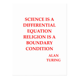 Carte Postale citation d'Alan Turing