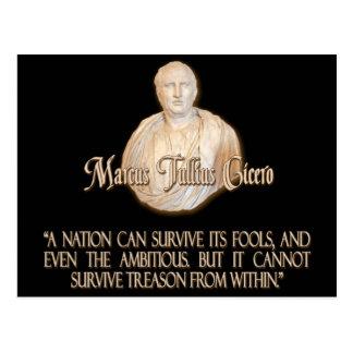 Carte Postale Citation de Cicero sur la trahison