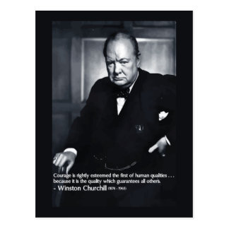 Carte Postale Citation de courage de Winston Churchill