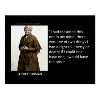 Carte Postale Citation de Harriet Tubman