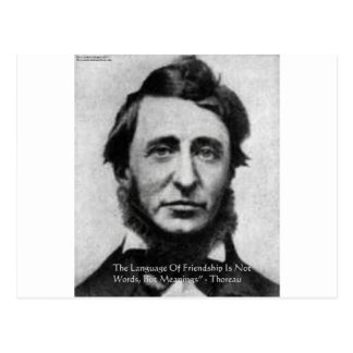 Carte Postale Citation de Henry David Thoreau