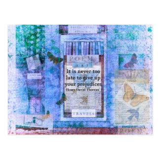 Carte Postale Citation de Henry David Thoreau au sujet de