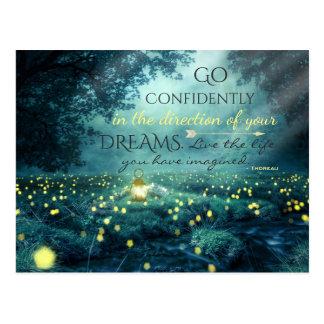 Carte Postale Citation de inspiration lunatique de rêves
