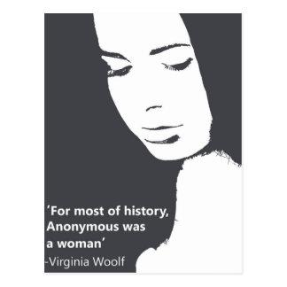Carte Postale Citation de la Virginie Woolf