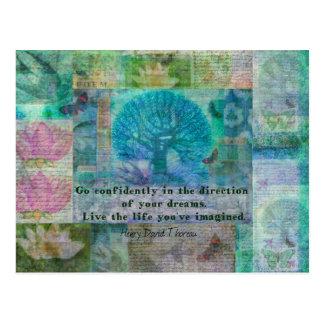 Carte Postale Citation de motivation de Henry David Thoreau