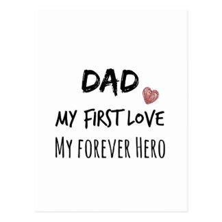 Carte Postale Citation de papa : Ma première passion, mon héros