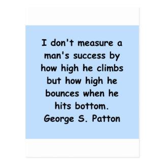 Carte Postale citation de patton de Georges s