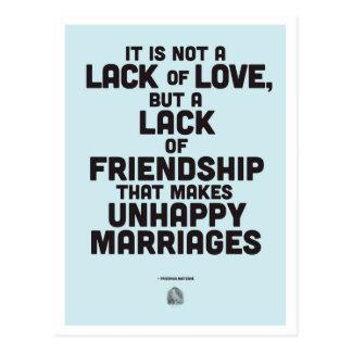 Carte Postale Citation de philosophie de mariage