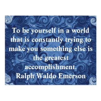 Carte Postale CITATION de Ralph Waldo Emerson inspirée