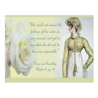 Carte Postale Citation de soeur de sens et de sensibilité