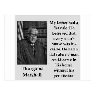 Carte Postale Citation de Thurgood Marshall