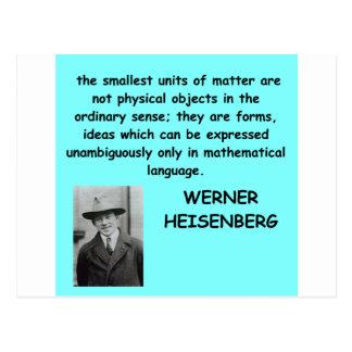 Carte Postale Citation de Werner Heisenberg