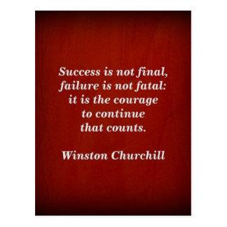 Carte Postale Citation de Winston Churchill ; Succès