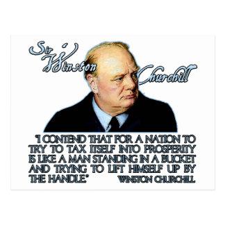 Carte Postale Citation de Winston Churchill sur l'imposition