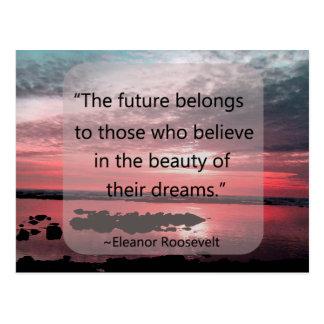 Carte Postale Citation d'Eleanor Roosevelt