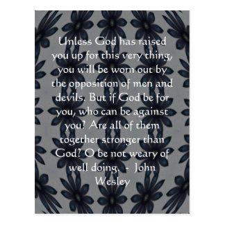 Carte Postale Citation d'inspiration de John Wesley avec la