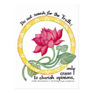 Carte Postale Citation et lotus de zen