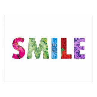 Carte Postale Citation heureuse 02 de sourire
