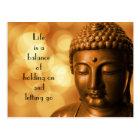 Carte Postale Citation inspirée avec une image de Bouddha