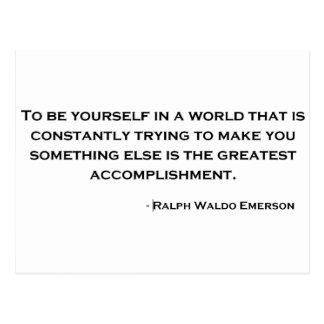 Carte Postale Citation sage de Ralph Waldo Emerson