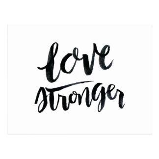 Carte Postale Citations d'amour : Amour plus fort