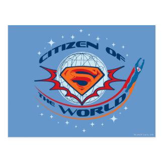 Carte Postale Citoyen de Superman du monde