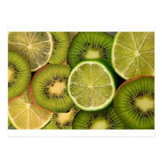 Carte Postale Citron et chaux de kiwi