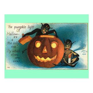 Carte Postale Citrouille de cru de lutin de Gremlin