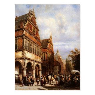 Carte Postale Cityhall Paderborn par Cornelis Springer