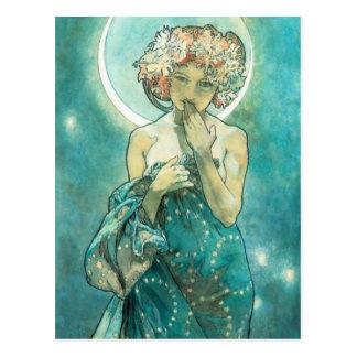 Carte Postale Clair de lune Clair De Lune Art Nouveau d'Alphonse