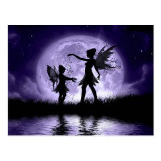Carte Postale Clair de lune Sihouettes