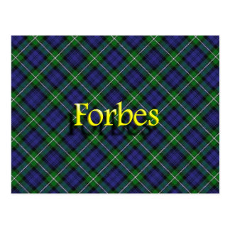 Carte Postale Clan écossais Forbes