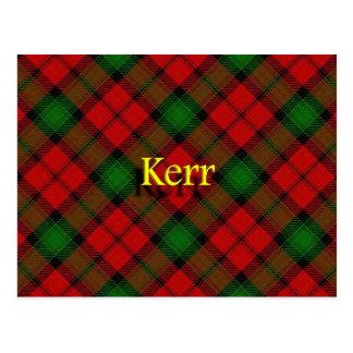 Carte Postale Clan écossais Kerr