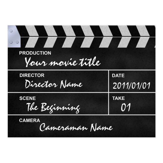 Carte Postale clap cinéma