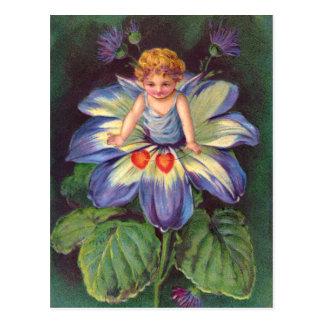 Carte Postale Clapsaddle : Aster d'ange de fleur
