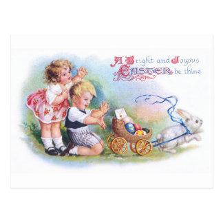 Carte Postale Clapsaddle : Enfants jouant avec le lapin