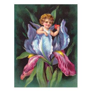 Carte Postale Clapsaddle : Iris d'ange de fleur